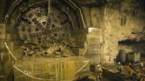 Прокладка тоннеля в Швеции