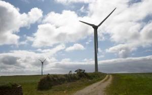 Ветрогенераторы в поле