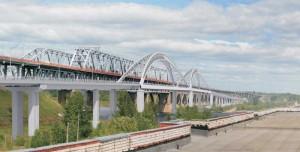 Строительство мостового перехода через Волгу