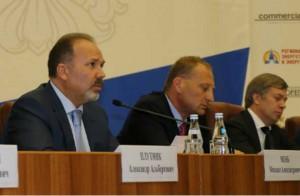 Глава Минстроя Михаил Мень на совещании с застройщиками