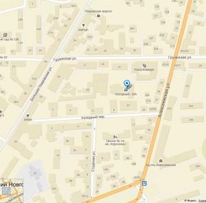 Бизнец центр на карте