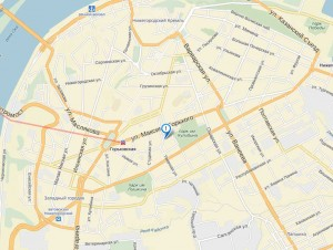 «Столица Нижний» на карте Нижнего Новгород