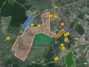 Новостройки Сколково на карте