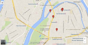Элитная застройка на карте Москвы