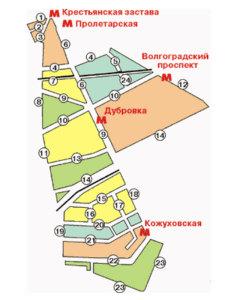 улицы Южнопортового