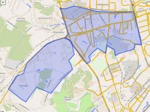 Можайский район на карте Москвы
