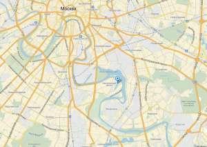 Нагатинский затон на карте