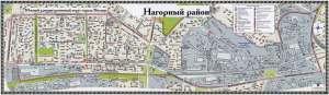 Карта района Нагорный в Москве