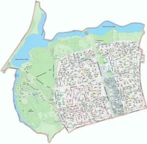 Карта района Орехово-Борисово Северное Москва