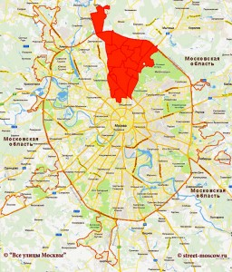округ на карте Москвы