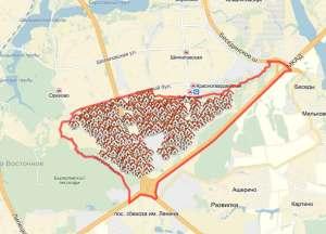 Орехово-Борисово Южное на карте Москвы