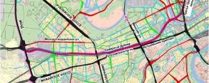 Северный дублёр Кутузовского проспекта - схема