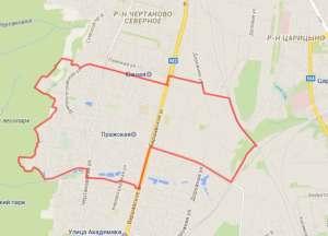 Центральное Чертаново на карте