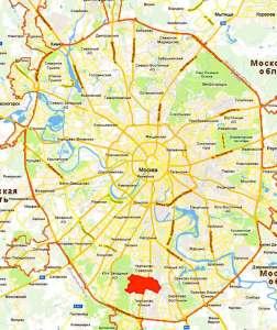 Чертаново Центральное на карте Москвы