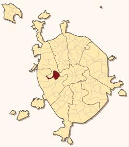 Филевский парк на карте Москвы