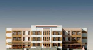 Детский сад на 5 групп (120 мест) для затеснённых условий застройки VI-70 Варианты фасадных решений к разработанному проекту. МНИИТЭП