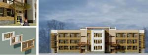 Варианты фасадных решений к разработанному проекту.