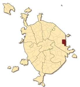 Район Ивановское на карте