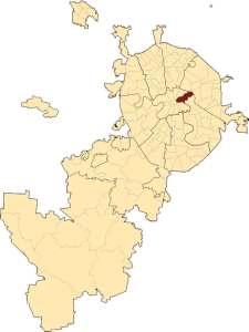Басманный район на карте