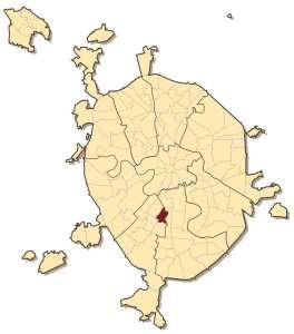 Район Котловка на карте