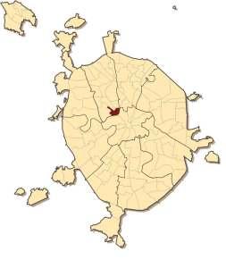 Район Беговой на карте