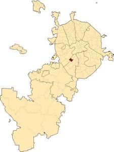 на карте Москвы