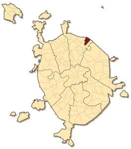 Лосиноостровский район на карте