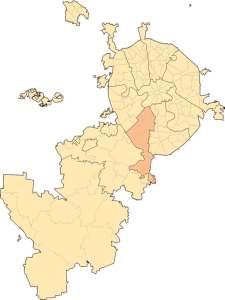 Юго-Западный административный округ на карте