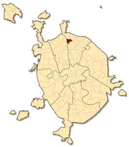 Алтуфьевский район на карте