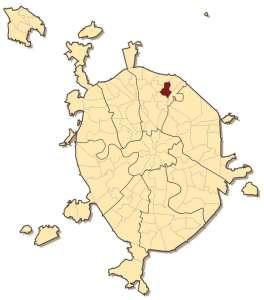 Бабушкинский район на карте