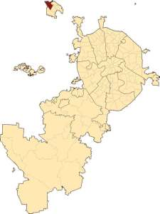 Район Силино на карте