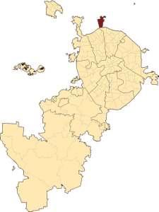 Северный на карте