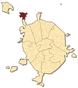 Молжаниновский район на карте
