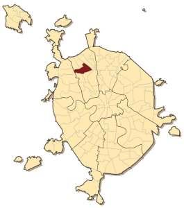 Головинский район на карте