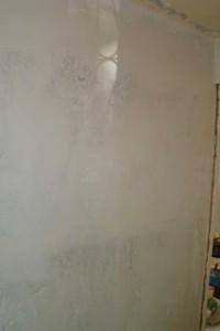Стены после затирки