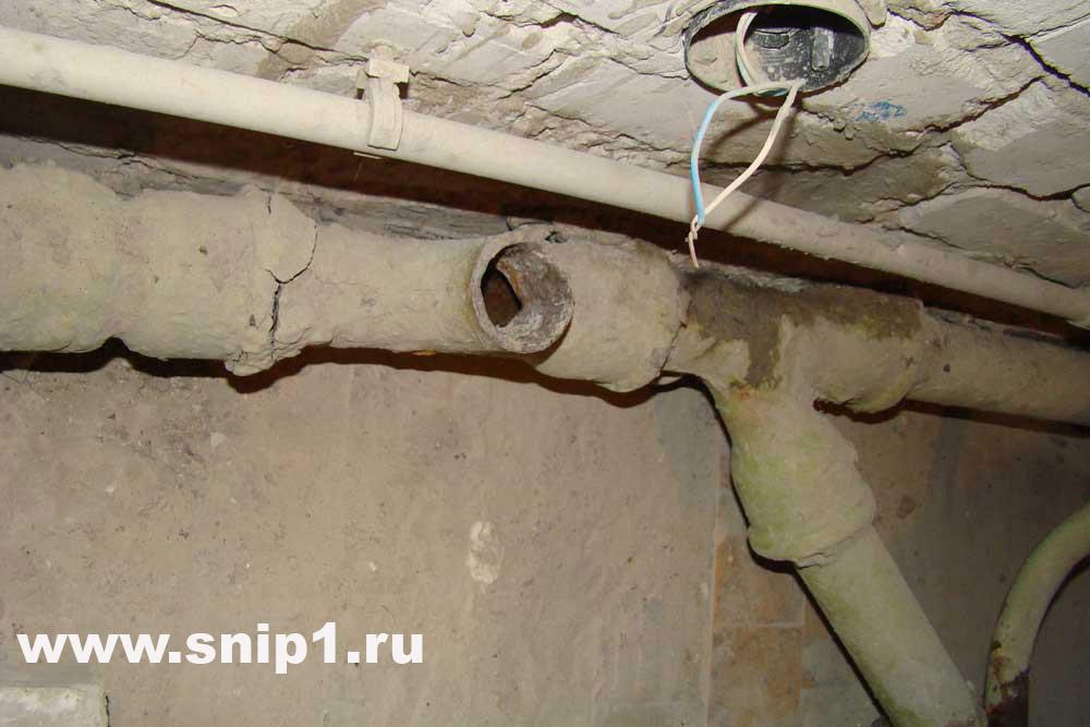 канализации в хрущёвке это