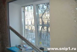 оштукатуривание вокруг окна