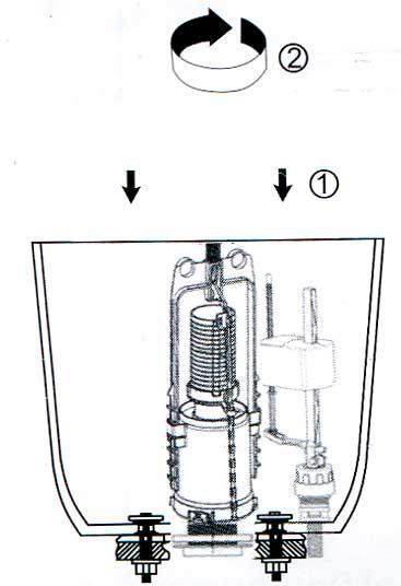 Сливной механизм для унитаза и способы его ремонта