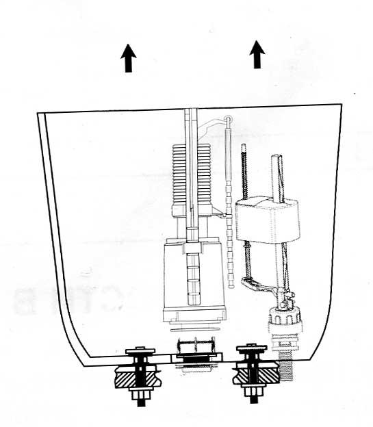 схема устройства поплавка унитаза