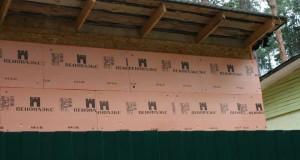 Обшивка ДСП внешней стены перед сайдингом