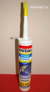 Санитарный силикон SUDAL (Кухни, ванные). Влагостойкий, антиплесневый, противогрибковый.