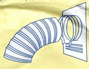 Схема крепления воздуховода к торцевой площадке