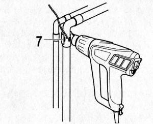 Пайка водопроводных труб феном