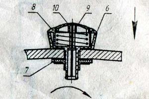 Сборка механизма тросикового управления донным клапаном