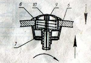 Варианты установки кнопки управления в крышки дачка с отверстиями