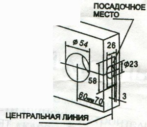 Разметка двери и   высверливание отверстий при установке механизма защелки с накладкой