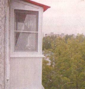 Внешня отделка балкона с крышей (последний этаж))