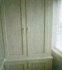 Двухуровневые шкафы из профиля ПВХ