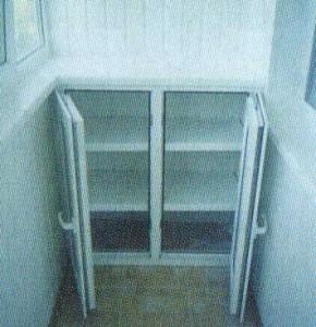 Встроенный шкаф из профиля ПВХ