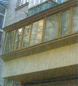 Балкон с выносом